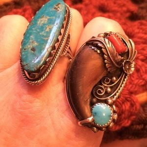 Other - Vintage Signed Native American Bear Claw Ring
